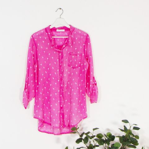LIGHTWEIGHT FLAMINGO SHIRT PINK